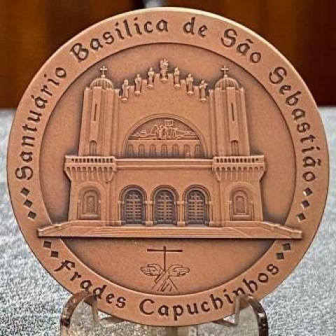 Medalha de Bronze São Sebastião do Rio De janeiro - Numismática Vieira