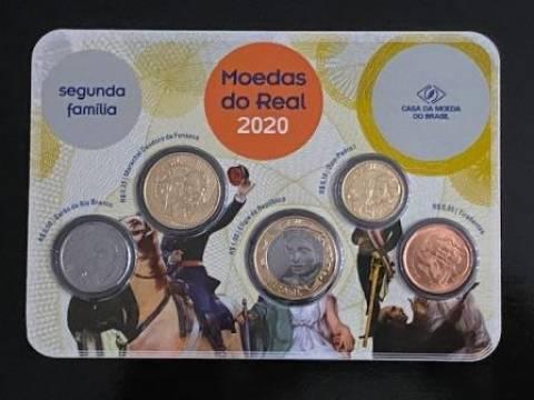 Set das moedas circulantes do Real 2020 - Numismática Vieira