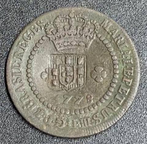 Catálogo Vieira Nº 278 - X Réis 1778 c/c escudete - Numismática Vieira