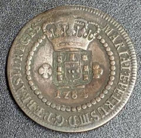 Catálogo Vieira Nº 281 - X Réis c/c Escudete 1784 - Numismática Vieira