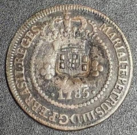 Catálogo Vieira Nº 282 - X Réis c/c Escudete 1785 - Numismática Vieira