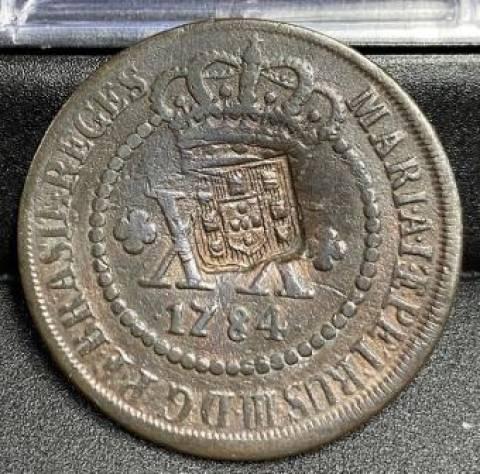 Catálogo Vieira Nº 277 - XXRéis c/c Escudete 1784 - Numismática Vieira