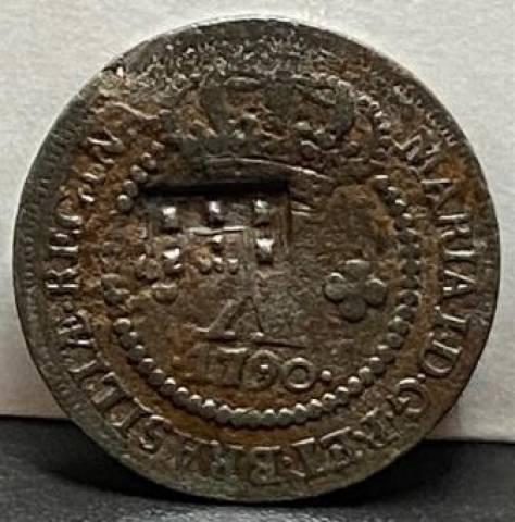 Catálogo Vieira Nº 348 - X Réis c/c Escudete 1790 - Numismática Vieira