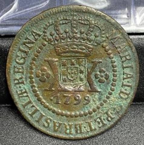 Catálogo Vieira Nº 345 - XXRéis c/c Escudete 1799 - Numismática Vieira