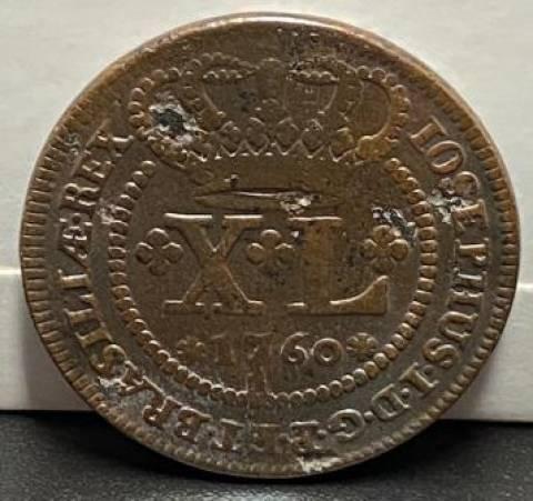 Catálogo Vieira Nº 108 - XL Réis 1760 - Numismática Vieira