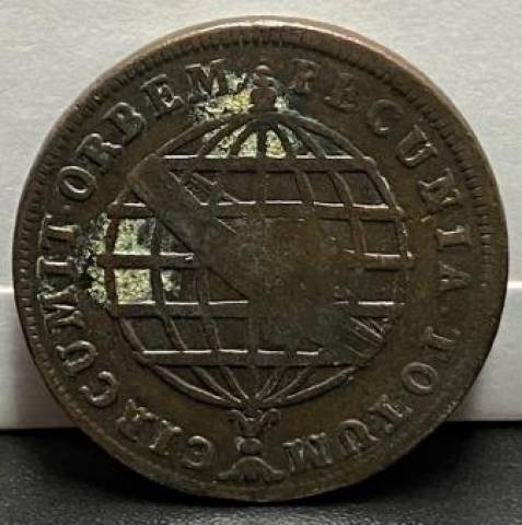 Catálogo Vieira Nº 305 - XL Réis c/c escudete 1786 - Numismática Vieira