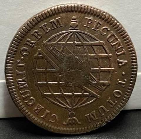 Catálogo Vieira Nº 306 - XL Réis c/c escudete 1790 - Numismática Vieira