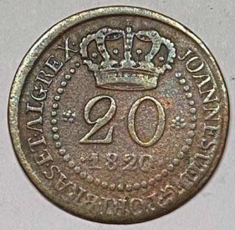 Catálogo Vieira Nº 543 - 20 Réis 1820 - Numismática Vieira