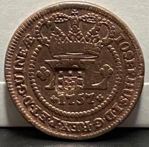 Catálogo Vieira Nº 135 - XL Réis c/c escudete 1757 - Numismática Vieira