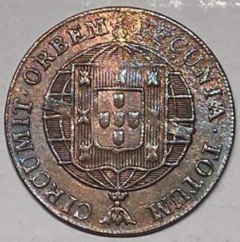 Catálogo vieira Nº 540 - 40 Réis 1821 - Numismática Vieira