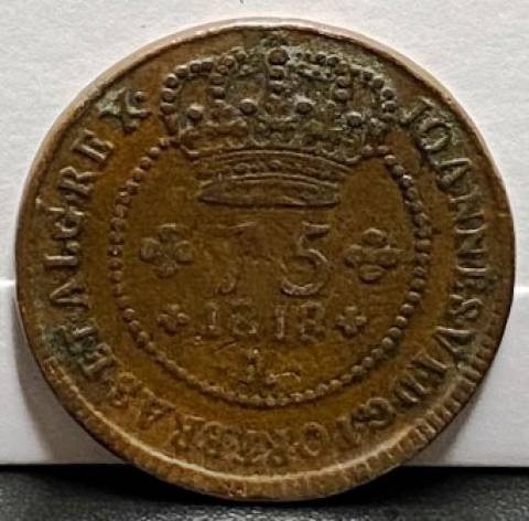 Catálogo Vieira Nº 518 - 75 Réis 1818M - Numismática Vieira