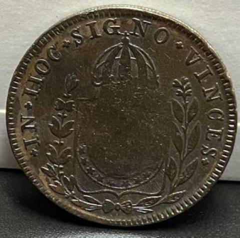 Catálogo vieira Nº 573 - 80 Réis c/c 40 Réis 1831R - Numismática Vieira