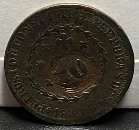 Catálogo Vieira Nº 644 20 Réis c/c 10 Réis 1830B - Numismática Vieira