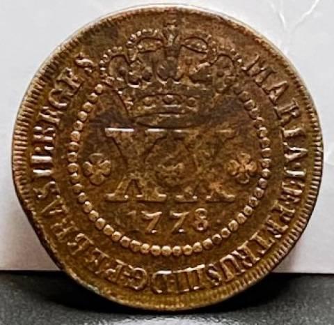 Catálogo Vieira Nº 258 - XX Réis 1778 - Numismática Vieira