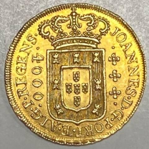 Catálogo Vieira Nº 552 - 4.000 Réis 1808 - Casa da Moeda da Bahia - Numismática Vieira