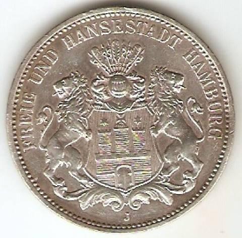 Alemanha Hamburg - Catálogo World Coins - KR. Nº  620 - Numismática Vieira