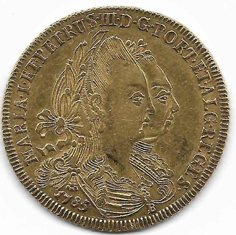Catálogo Vieira Nº 446 - 6.400 Réis - 1785B (Ouro) - Numismática Vieira