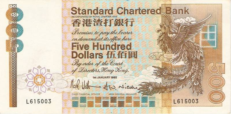 Hong Kong - Catálogo World Paper Money - Pick Nº 282 - Numismática Vieira