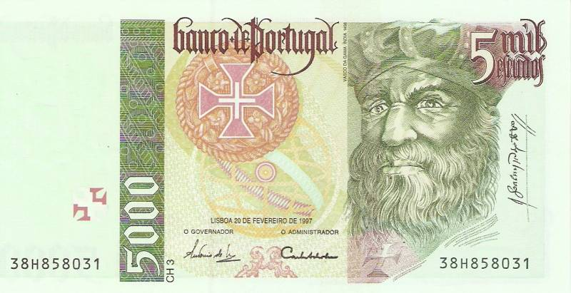 Portugal - Catálogo World Paper Money - Pick Nº 190 - Numismática Vieira