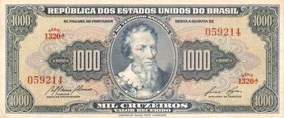 Catálogo Vieira Nº 053 - 1.000 Cruzeiros (1º Estampa) (Pedro Álvares Cabral) - Numismática Vieira