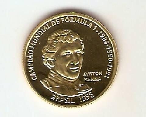 Catálogo Vieira Nº 723 - 20 Reais (Ayrton Senna) (Ouro) - Numismática Vieira
