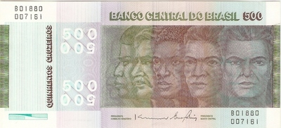 Catálogo Vieira Nº 151 - 500 Cruzeiros  (Evolução da Etnia Brasileira) - Numismática Vieira