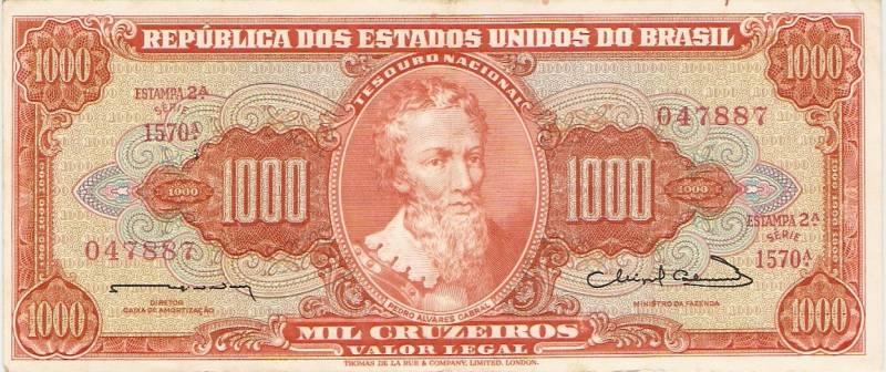 Catálogo Vieira Nº 106 - 1000 Cruzeiros  (2º Estampa) (Pedro Álvares Cabral) - Numismática Vieira