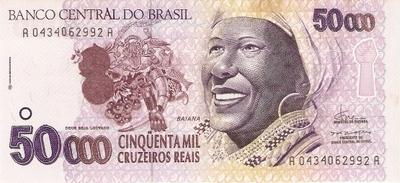 Catálogo Vieira Nº 240 - 50.000 Cruzeiros Reais (Baiana) - Numismática Vieira