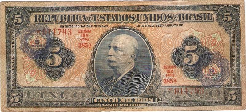 Catálogo Vieira Nº 002 - 5 Mil Réis C/C de (5 Cruzeiros) - Numismática Vieira