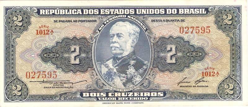 Catálogo Vieira Nº 016 - 2 Cruzeiros (1º Estampa) (Duque de Caxias) - Numismática Vieira