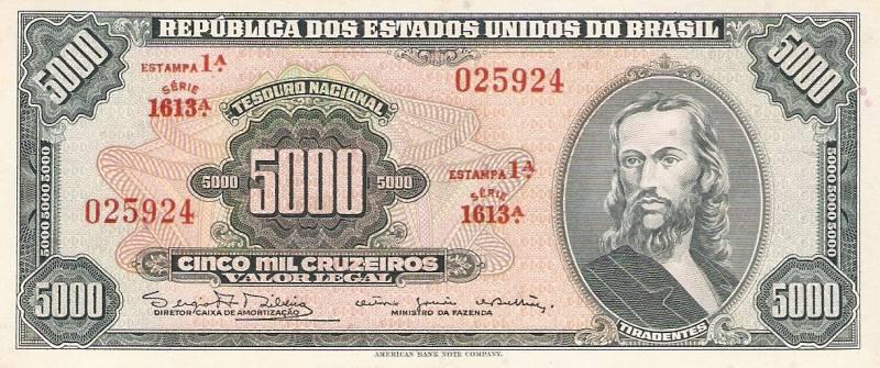 Catálogo Vieira Nº 059 - 5000 Cruzeiros (1º Estampa) (Tiradentes) - Numismática Vieira