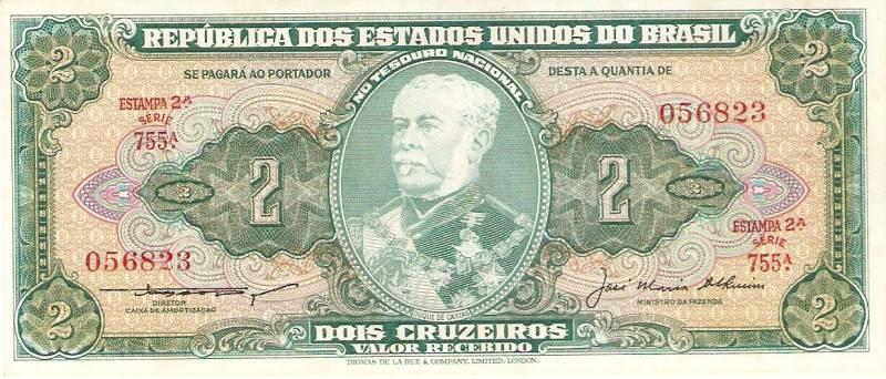 Catálogo Vieira Nº 063 - 2 Cruzeiros (2º Estampa) (Duque de Caxias) - Numismática Vieira