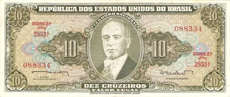 Catálogo Vieira Nº 082 - 10 Cruzeiros  (2º Estampa) (Getúlio Vargas) - Numismática Vieira