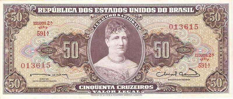 Catálogo Vieira Nº 093 - 50 CruzeiroS  (2º Estampa) (Príncesa Isabel) - Numismática Vieira