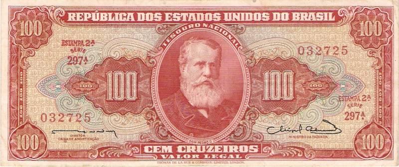 Catálogo Vieira Nº 096 - 100 Cruzeiros  (2º Estampa) (D.Pedro II) - Numismática Vieira