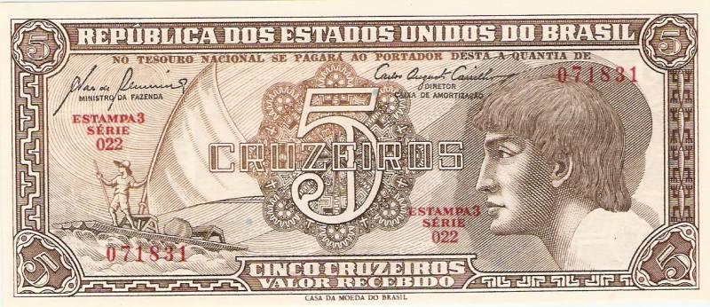 Catálogo Vieira Nº 111 - 5 Cruzeiros  (2º Estampa) (Indio) - Numismática Vieira