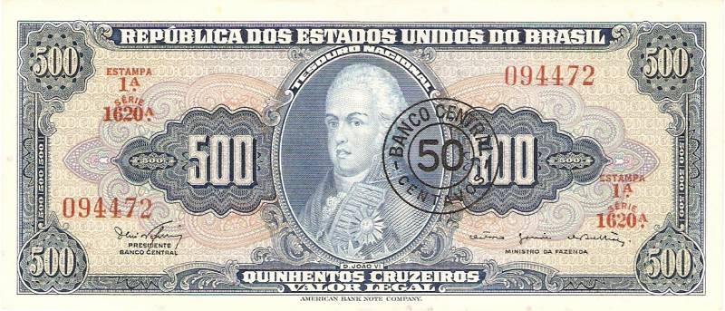 Catálogo Vieira Nº 119 - 500 Cruzeiros C/C de (50 Centavos)  (D.João VI)  - Numismática Vieira