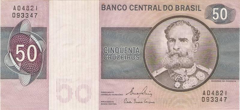 Catálogo Vieira Nº 144 - 50 Cruzeiros  (Marechal Deodoro da Fonseca) - Numismática Vieira