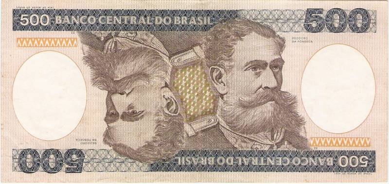 Catálogo Vieira Nº 161 - 500 Cruzeiros  (Marechal Deodoro da Fonseca) - Numismática Vieira