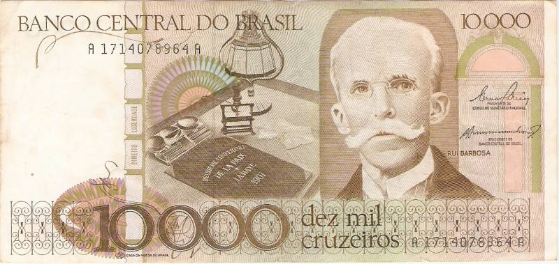 Catálogo Vieira Nº 170 - 10.000 Cruzeiros  (Rui Barbosa) - Numismática Vieira