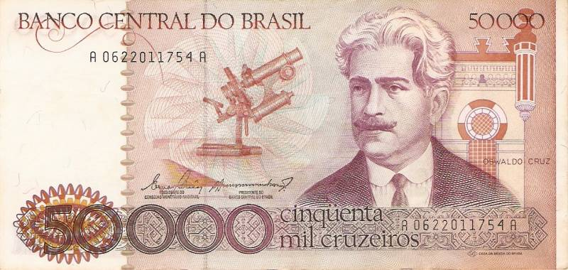 Catálogo Vieira Nº 172 - 50.000 Cruzeiros  (Oswaldo Cruz) - Numismática Vieira