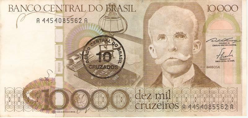 Catálogo Vieira Nº 177 - 10.000 Cruzeiros C/C de (10 Cruzados)  (Rui Barbosa)  - Numismática Vieira