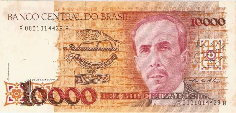 Catálogo Vieira Nº 196 - 10.000 Cruzados  (Carlos Chagas) - Numismática Vieira