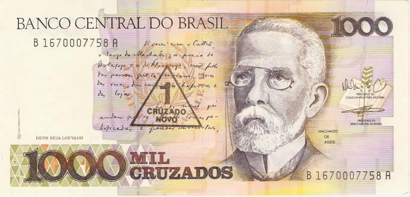 Catálogo Vieira Nº 199 - 1000 Cruzados C/C de (1 Cruzado Novo) (Machado de Assis) - Numismática Vieira