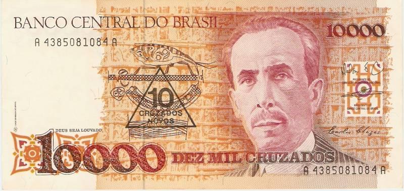 Catálogo Vieira Nº 203 - 10.000 Cruzados C/C de (10 Cruzados novos)  (Carlos Chagas) - Numismática Vieira