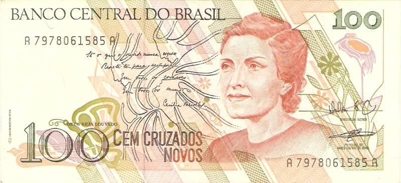 Catálogo Vieira Nº 207 - 100 Cruzados novos (Cecília Meirelles) - Numismática Vieira