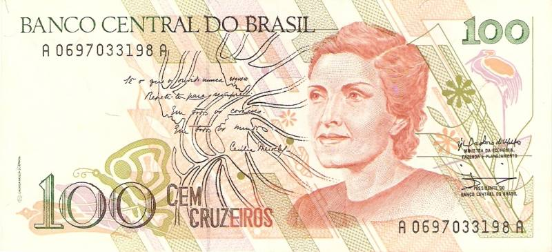 Catálogo Vieira Nº 214 - 100 Cruzeiros  (Cecília Meirelles) - Numismática Vieira