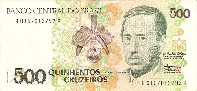 Catálogo Vieira Nº 216 - 500 Cruzeiros  (Augusto Rushi) - Numismática Vieira