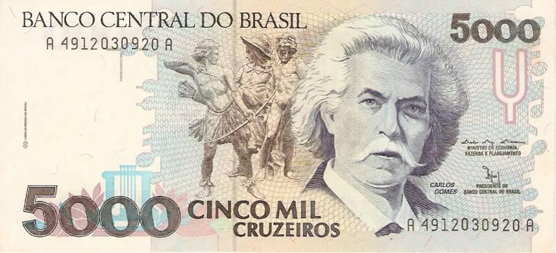 Catálogo Vieira Nº 220 - 5000 Cruzeiros (Carlos Gomes) - Numismática Vieira