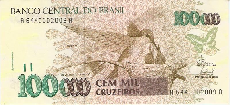 Catálogo Vieira Nº 230 - 100.000 Cruzeiros  (Beija Flor)